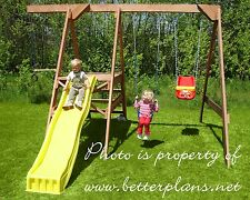 PLANS to build beautiful strong playground with slide and swings/swingset.