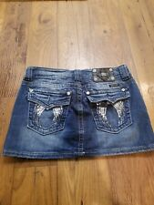 Miss Me Womens Jeans Skirt Size 27 Angel Wing Pockets