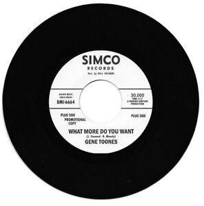 Gene Toones  What More Do You Want / Same Northern Soul Listen