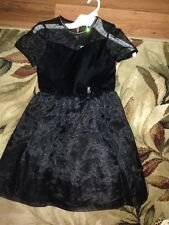 choice Girls Dress Size 7 burgundy or 8  black SUPER FANCY HOLIDAY CHRISTMAS EUC