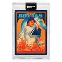Topps PROJECT 2020 Card 175 - 1975 George Brett by Matt Taylor