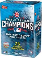 2016 Topps Chicago Cubs World Series Commemorative 25 Card Set - Fanatics