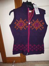 NWT NEVE Nordic Purple Merino Wool Zipped Nina Snowflake Sweater Vest  Large