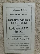 More details for ludgvan v torpoint athletic. friendly programme. jan 3rd 1948.