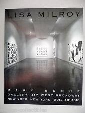 Lisa Milroy Art Gallery Exhibit PRINT AD - 1990