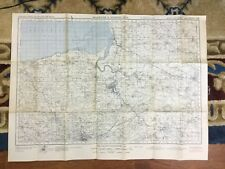 More details for 1940 ww2 military map of bridgwater quantock hills map original war office issue