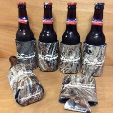 Budwieser Bowtie Real Tree Mossy Oak Camo Beer Koozies - Set Of 6 - NEW & F/Ship