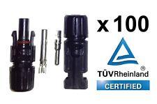 100 pares de MC4 tipo Solar PV DC Cable Conectores TÜV certificado-Entrega Gratis