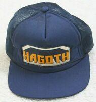 Hagoth Blue White & Orange Solid Baseball Hat Adult Men's Cap Snapback Polyester