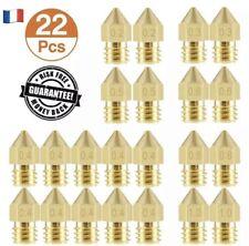 🥇🇫🇷 22x buse Imprimante 3D  Ender3. 1,75mm Mk8 Cr10 0,2/0,3/0,4/0,5/0,6/0,8/1