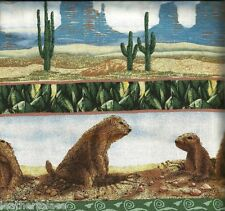 Ssi American Wilderness Coyote Prairie Dog Horse ~ 100% Cotton Quilt Fabric Bty