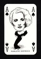 Marlene Dietrich Hollywood Caricature Playing Card