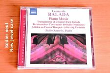 Leonardo Balada - Piano Music - Pablo Amoros - 21 pistes - CD Naxos