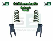"""2004 - 2014 Ford F-150 F150 2"""" / 2"""" or 2"""" / 3"""" Drop Lowering Kit Coils Shackles"""