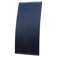 160W Black Semi-Flexible Solar Panel ETFE Coating with Rear Junction Box