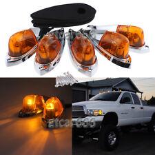 5PCS Teardrop Amber Cab Roof Marker Light Amber Lens For Dodge Ram Truck Pickup