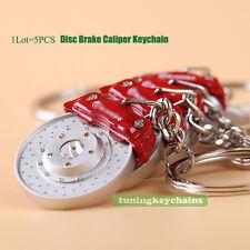 Lot 5PCS Brake Disc Calipper Metal Keychain Key Chain Keyring car parts