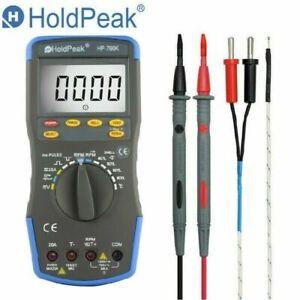 HoldPeak Digital Automotive Multimeter Car Engine Analyzer AC DC Capacity Meter