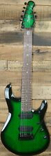 Sterling by Music Man JP70 7-String Electric Guitar Trans Green Burst w/Bag NEW