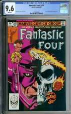 FANTASTIC FOUR #257 CGC 9.6 WHITE PAGES // SCARLET WITCH + GALACTUS APP 1983