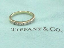 Tiffany & Co 18Kt Diamond Channel Set Band Yellow Gold Size 6.5 2.5mm