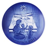 Bing & Grondahl 2017 Christmas Plate, Waiting for Father (1021113)