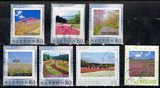 Japan Frame Stamp Collection Used  7 pcs Flower