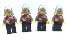 LEGO LOT OF 4 LION KNIGHT CASTLE MINIFIGURES KINGDOMS SOLDIER FIGURES
