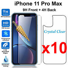 x10 Tempered Glass 9H screen protector for Apple iPhone 11 PRO MAX Front + Back