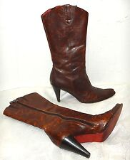 LAREDO leather western cowboy dressy boots high heels Italy sz 7.5N EXCELLENT