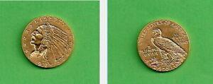 USA Goldmünze Indian Head 2 1/2 Dollar sehr schön