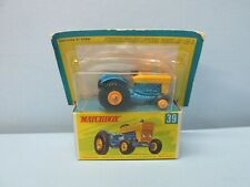 """MatchboxSuperfast39 Ford Tractor LIGHT Blue & Yellow / RARE """"G"""" BOX"""