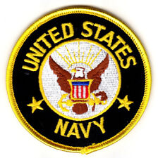 UNITED STATES NAVY Iron On Patch Military Patriotic