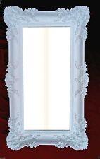 Specchio da parete Barocco Bianco Bagno DECORAZIONE 97x58 grande