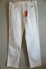 NWT History Iceberg Felix the Cat White Jeans Size 40x36  Made in Italy