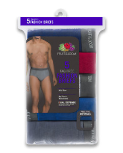 "Fruit of the Loom® BIG MEN'S DUAL DEFENSE FASHION BRIEFS 5-Pack 3XL "" COTTON"""
