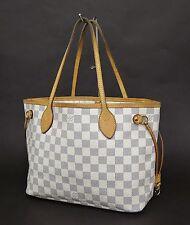 Authentic LOUIS VUITTON Neverfull PM Damier Azur Tote Bag Purse #22739