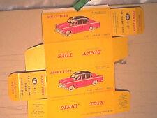REPLIQUE BOITE SIMCA ARIANE TAXI  DINKY TOYS 1961