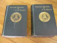 Personal Memoirs of  U. S. Grant, 1st Ed., 2 v. Illus. ,D. Webster, 1885-1886