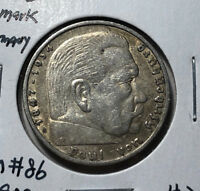 1936 Germany 5 Mark Silver Coin