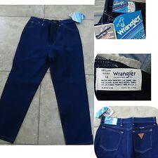 Vtg Nwt 1980s Wrangler Misses Stretch Denim Capri Jeans High Waist Dk Blue Sz16