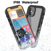For iPhone 12/11 Pro Max Waterproof Shockproof Case W/ Built-in Screen Protector