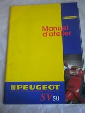 Vintage scooter workshop manual Peugeot SV50 1991