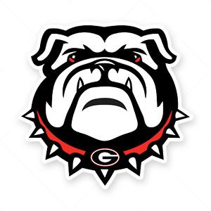 Georgia Bulldogs Logo Sticker Team Decal Vinyl Die Cut Football Window Car