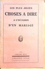 LES PLUS JOLIES CHOSES A DIRE A L'OCCASION D'UN MARIAGE