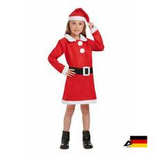 Weihnachtsmann Nikolaus Kostüm MÄDCHEN Komplettset Anzug Mütze und Bart S M L