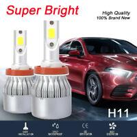 2pcs High Power H8 H9 H11 120W 32000LM LED Headlight Bulbs Conversion Kit 6000K
