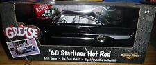 1 18 ERTL 1960 FORD STARLINER HOT ROD GREASE BLACK WITH WHITE INTERIOR DIECAST