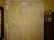 Helen Blake 3 Piece Pants Suit Size 16 Ivory Fully Lined Polyester Lace L@@K