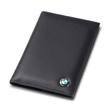 deluxe BMW Genuine Leather Passport Holder Men Passport Cover Car ID Case Gift